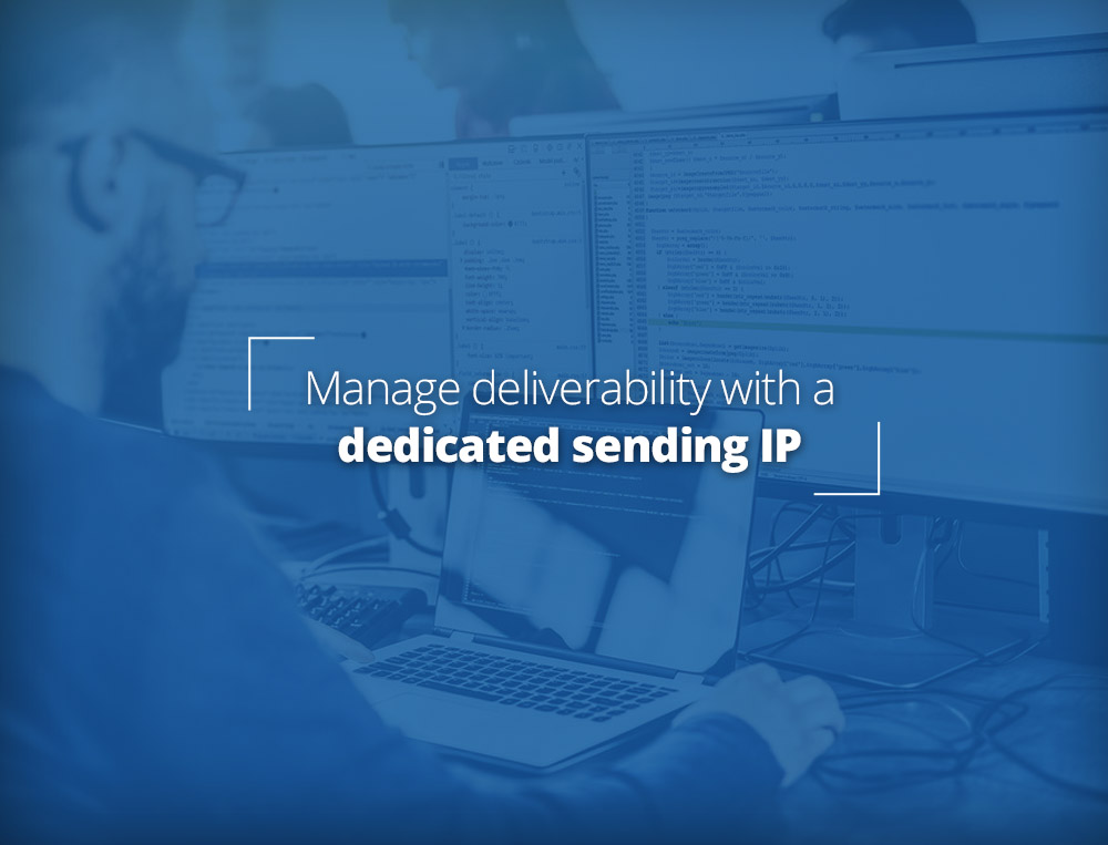 Manage sending reputation with a dedicated IP