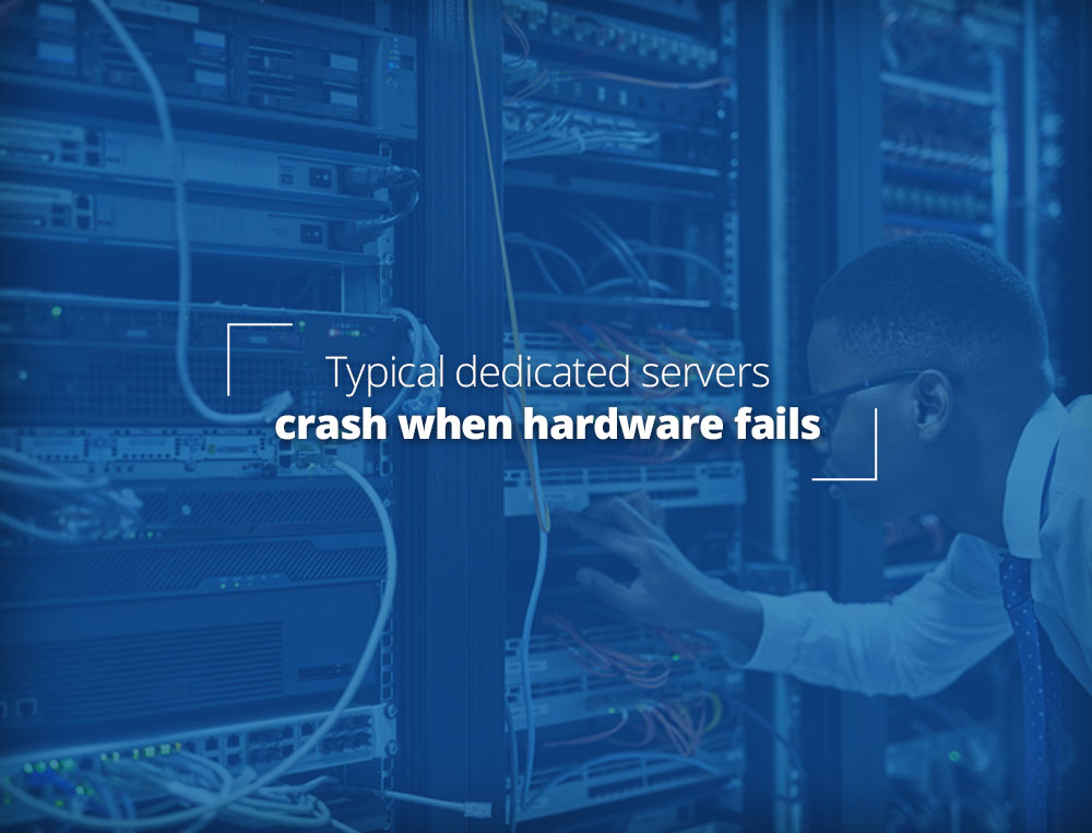 Normal dedicated servers fail when hardware fails