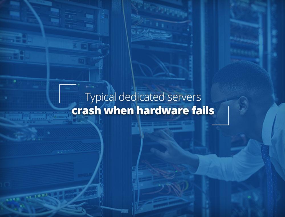 Normal dedicated servers fail when hardware fails