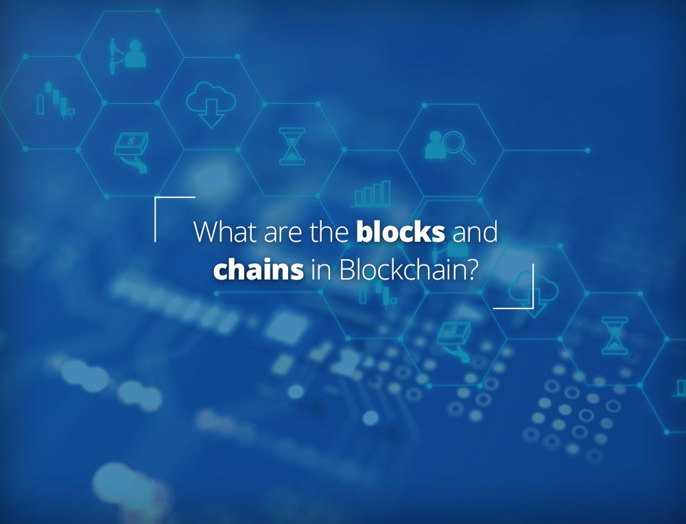 What are the blocks and chains in blockchain?