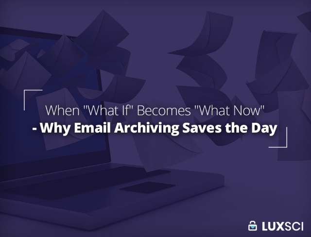 email archiving for disaster recovery