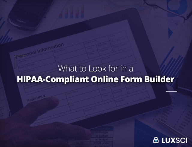 HIPAA compliant online form builder