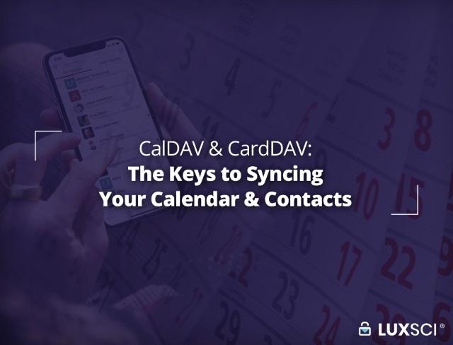 LuxSci-CalDAV-CardDAV